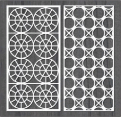 Design Interwoven Circle Bulkhead For Laser Cut Cnc Free CDR Vectors Art