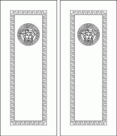 Door Face Design For Laser Cut Cnc Free CDR Vectors Art