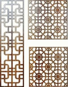 Feng Shui Bulkhead For Laser Cut Cnc Free CDR Vectors Art