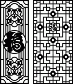 Feng Shui Bulkhead Pattern For Laser Cut Cnc Free CDR Vectors Art
