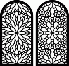 Flower Shaped Window Pattern For Laser Cut Cnc Free CDR Vectors Art