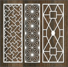 Glass Frame Column Pattern For Laser Cut Cnc Free CDR Vectors Art