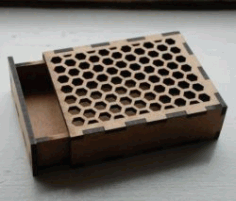 Honeycomb Hole Box Model For Laser Cut Cnc Free CDR Vectors Art