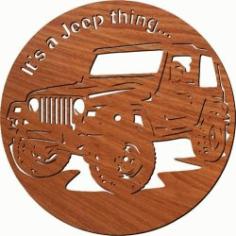 Jeep Car Wall Clock For Laser Cut Plasma Free CDR Vectors Art