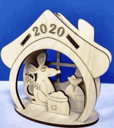 Mouse House 2020 For Laser Cut Cnc Free CDR Vectors Art