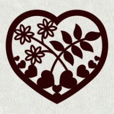 Mussel Heart Weed Flower For Laser Cut Cnc Free CDR Vectors Art