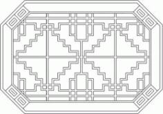 Octagonal Baffle Design Template For Laser Cut Cnc Free CDR Vectors Art
