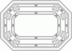 Octagonal Wooden Desk Pattern For Laser Cut Cnc Free CDR Vectors Art