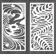 Phoenix And The Leaves For Laser Cut Cnc Free CDR Vectors Art