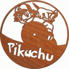 Pokemon Wall Clock For LaserCut Plasma Free CDR Vectors Art