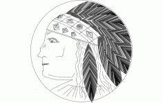 Native American Indian Headdress Free DXF File
