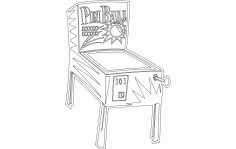 Pinball Machine Free DXF File