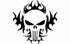 Punisher Tribal 24×24 Free DXF File
