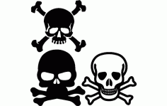 Skull And Crossbone Free DXF File