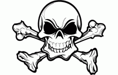 Skull Silhouette Details Free DXF File