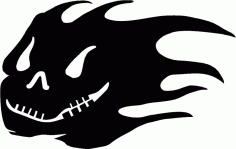 Skull Silhouette Horror Free DXF File
