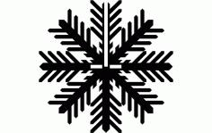 Snowflake A Free DXF File