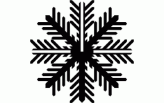 Snowflake B Free DXF File