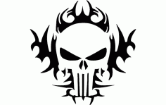 The Punisher Tribal 24×24 Free DXF File