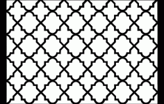 Turkish Pattern Art Free DXF File