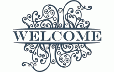 Welcome Decoration Panel Free DXF File