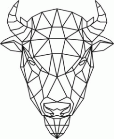 Bison Head 3d Murals For Laser Cut Plasma Decal Free DXF File