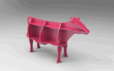 Cow Shelf Puzzle Free DXF File
