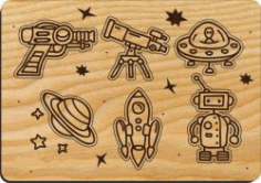 Cosmic Toys For Children For Laser Cut Cnc Free DXF File
