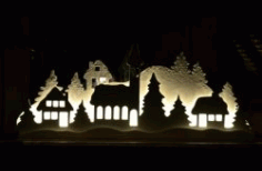Electricity Pictures Shaped House For Laser Cut Cnc Free DXF File