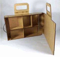 Portable Suitcase Made Of Wood For Laser Cut Cnc Free DXF File