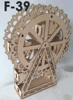 Rotating Display Shelf f39 For Laser Cut Cnc Free DXF File