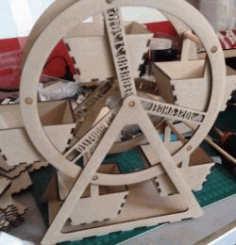Rotating Wheel Display Shelf For Laser Cut Cnc Free DXF File