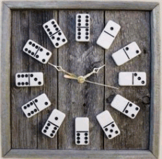 The Clock Is Shaped Like A Domino For Laser Cut Cnc Free DXF File