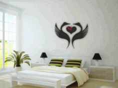 The Swan Clock In The Bedroom For Laser Cut Plasma Free DXF File
