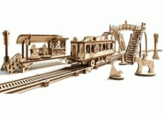 Train Model For Laser Cut Cnc Free DXF File