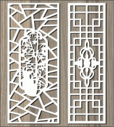Ancient Pattern Behind The Garden For Laser Cut Cnc Free DXF File