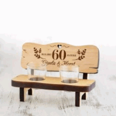 Chair Shaped Cup Holder For Laser Cut Cnc Free DXF File