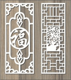 Chinese Ancient Pattern For Laser Cut Cnc Free DXF File