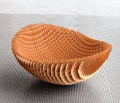 Flower Basket For Laser Cut Cnc Free DXF File