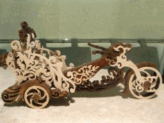 Motorbike With Bottle Of Wine For Laser Cut Cnc Free DXF File