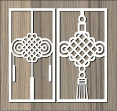 Pattern Brings Good Luck To The House Shift For Laser Cut Cnc Free DXF File