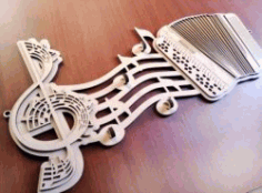 Play Music For Laser Cut Cnc Free DXF File