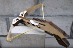 Wooden Crossbow For Laser Cut Cnc Free DXF File