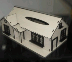 Wooden Home Design For Laser Cut Cnc Free DXF File