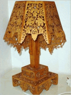 Wooden Lampshade With Vine Pattern For Laser Cut Cnc Free DXF File
