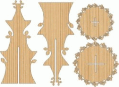 2 Story Flower Display Shelf For Laser Cut Cnc Free CDR Vectors Art