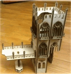 Architectural Design Of The Tower Collapsed For Laser Cut Cnc Free CDR Vectors Art