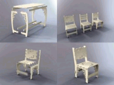 Assembled Wooden Furniture And Tables For Laser Cut Cnc Free CDR Vectors Art