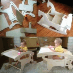 Assembling A toddler's Feeding Chair For Laser Cut Cnc Free CDR Vectors Art