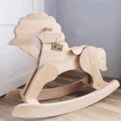 Assembling Seesaw Horses For Children For Laser Cut Cnc Free CDR Vectors Art